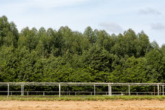 Horse arena. Outdoor open sand horse arena Royalty Free Stock Photo
