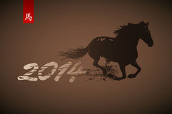 Horse. Artistic horse illustration. 2014 Chinese new year symbol Royalty Free Stock Photos