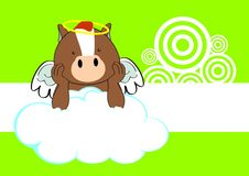Horse baby cute angel cartoon background Royalty Free Stock Images