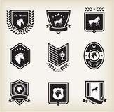 Horse badges Royalty Free Stock Photography