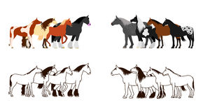 Horse banner set Stock Image