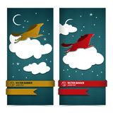 Horse banners set. Royalty Free Stock Images
