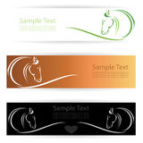 Horse banners royalty free illustration