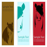 Horse banners Stock Image