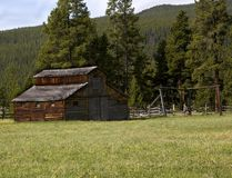 Horse Barn. High altitude rustic ranch setting located in the Rocky Mountains Stock Photography