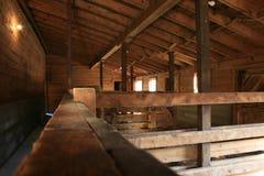Horse barn. A look from inside the horse barn Stock Photo