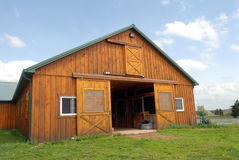 Horse barn Stock Image