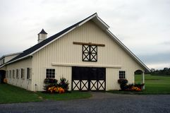 Horse Barn in Middle Tennessee. Equestrian Horse ranches are very poplar  in Middle Tennessee.  The term Equestrian refers to the skill of riding, driving Royalty Free Stock Photos