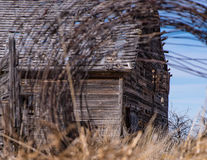 Horse Barn at the Old Stagecoach Stop. The abandoned horse barn at an old stagecoach stop on Tygh Ridge in Central Oregon near Dufur in Wasco County Royalty Free Stock Photo