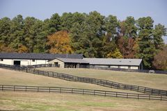 Horse Barns Royalty Free Stock Photography