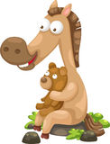 Horse with bear vector stock illustration