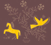 Horse and bird Royalty Free Stock Images