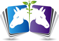 Horse book logo Stock Images