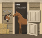 Horse Breeding Farm Stable Stall Poster Stock Photos