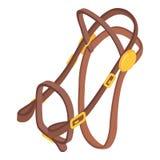 Horse bridle icon, isometric style Stock Image