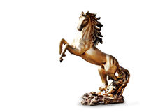 Horse from bronze isolated Stock Images