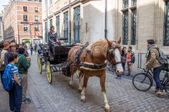 Horse cab Royalty Free Stock Photos