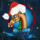 Horse Calendar. Horse character for 2014 year calendar or cover stock illustration