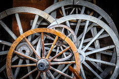 Horse Car Wheels Stock Photography