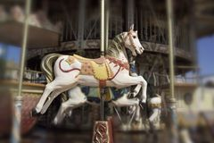 Horse on carousel Stock Photos