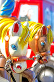 Horse of a carousel Stock Photos