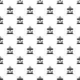 Horse carousel pattern seamless vector stock illustration