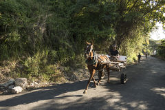 Horse carriage Casablanca Havana Royalty Free Stock Photos