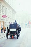 Horse carriage in the center of Vienna Royalty Free Stock Photography