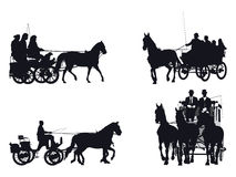 Horse and carriage collection Royalty Free Stock Photos