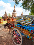 Horse carriage and Daw Gyan Pagoda complex, Ava, Myanmar 6 Stock Photo