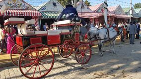 Horse carriage. Horse-drawn carriage at the Seville fair Royalty Free Stock Photos