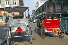 Horse Carriage in French Quarter of New Orleans, Louisiana Royalty Free Stock Photos