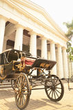 Horse carriage in front of Fine Art & Ceramic Museum Jakarta Stock Photography