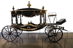 Horse carriage funeral XIX century Stock Image