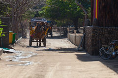 Horse carriage on Gili island Royalty Free Stock Photography