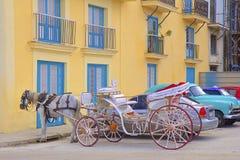 Horse carriage in Havana, Cuba Stock Photos