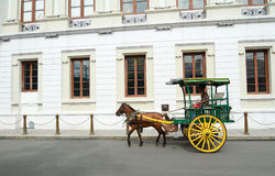 Horse with carriage in Intramuros, Manila Stock Photography