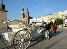 Horse carriage krakow Poland Stock Photos