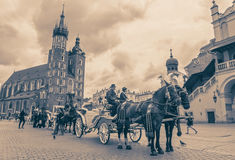 Horse carriage at Krakow, Slovakia Royalty Free Stock Photo