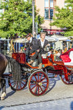 Horse and carriage at the Main Square in Krakow Royalty Free Stock Images