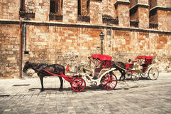 Horse Carriage, Majorca Royalty Free Stock Images