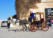 Horse and carriage, Mdina, Malta. Stock Photos