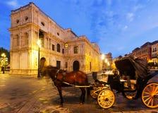 Horse carriage  near ayuntamiento. Seville Stock Photos