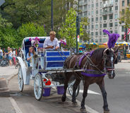 Horse and Carriage. New York, NY, US -- August 31, 2016. Horse and Carriage ride in Central Park. Editorial Use Only Royalty Free Stock Images