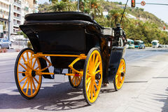 Horse carriage parked in andalusia, spain Royalty Free Stock Photography