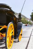 Horse carriage parked in andalusia, spain Royalty Free Stock Images