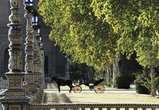 Parque de Maria Luisa (Maria Luisa Park), Seville, Spain Royalty Free Stock Photography