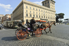 Horse carriage ride Royalty Free Stock Images