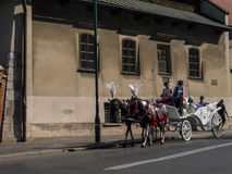 Horse and Carriage Ride around Krakow in Poland in Krakow Poland Stock Images
