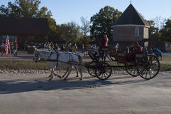 Horse Carriage ride at Colonial Williamsburg Stock Photo